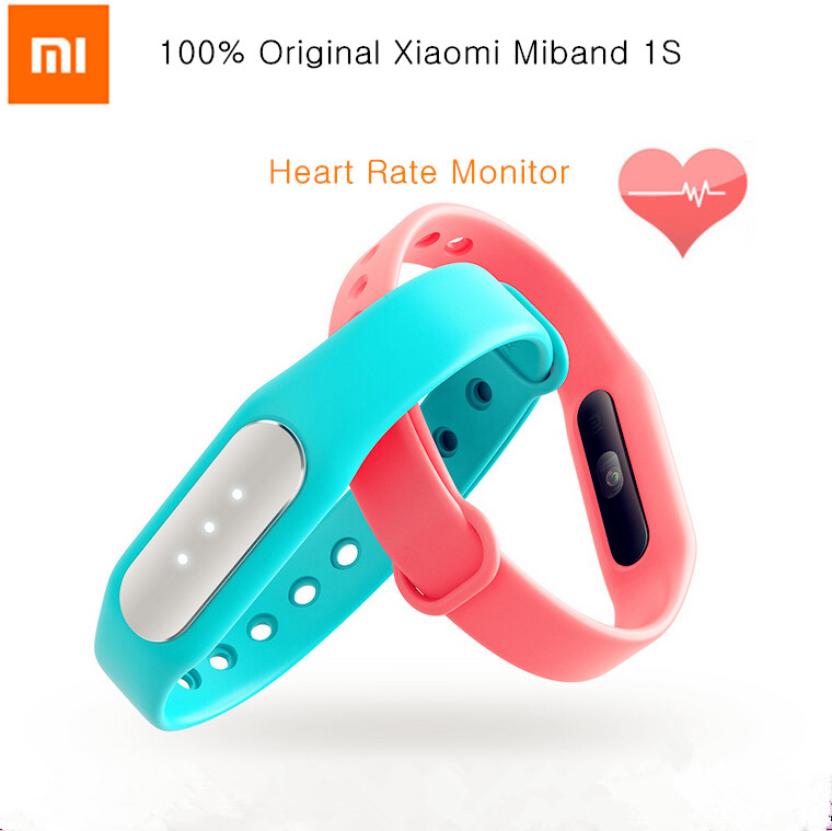 Original Xiaomi Mi Band 1S Heart Rate Smart Miband Bracelet For Xiaomi MI4C Note 2 Iphone 6 Plus Android IOS Mobile Phone(China (Mainland))