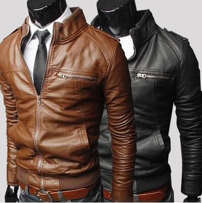 Free shipping men genuine leather jacket jacket collar men's leather motorcycle leather winter jacket men leather jacket men(China (Mainland))