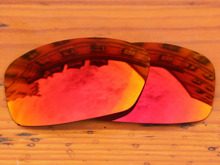 Polycarbonate-Fire Red Mirror Replacement Lenses For Hijinx Sunglasses Frame 100% UVA & UVB Protection
