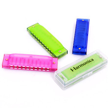 Free Shipping High Quality Discount 1PC/Lot Children Child Baby Plastic Mini Harmonica 10-Holes Music Toys Instrument Gift(China (Mainland))