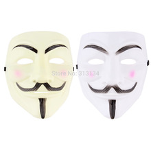 Cosplay Mask V For Vendetta Mask Anonymous Movie Guy Fawkes Halloween Masquerade Party Face March Protest Costume Accessory(China (Mainland))