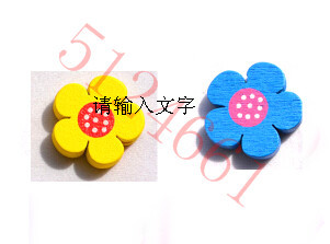 jewelry beads wood beads 20MM mixed color green paint cartoons Sunflower wood chip(China (Mainland))