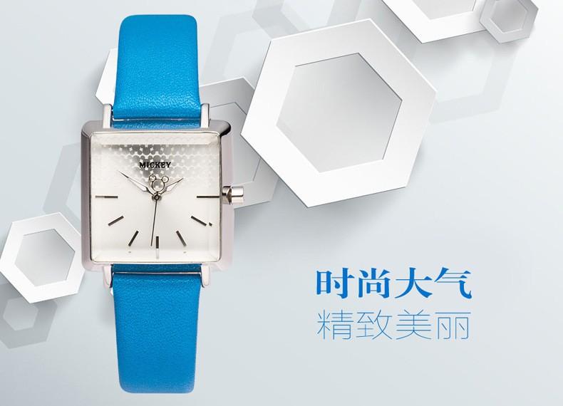 Disney бренда девушка наручные часы Женский мультфильм анимация Микки 30 м водонепроницаемый кварцевые часы Кожа площади