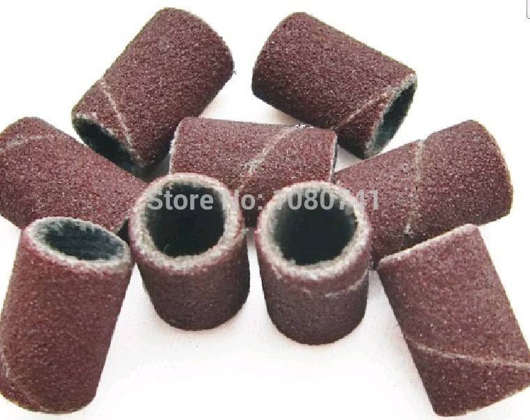 100pcs #180 Sanding Bands For Manicure Pedicure Nail Drill Machine,Grinding Sand Ring,1.2 CM* 0.8 CM,(China (Mainland))