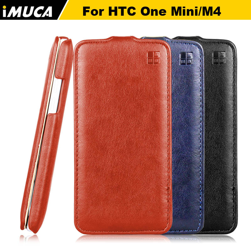 Case for for HTC One Mini M4 601e New 2014 PU Leather Flip Cover Pouch Cell Phone Accessories with Retail Box(China (Mainland))