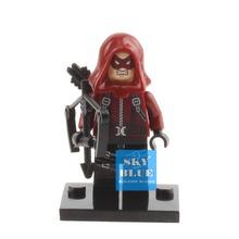 XINH 173 Red Arrow Roy Minifigures Single Sale DC Super Heroes Avengers Building Blocks Sets Bricks Figures Toys For Children