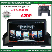 "7"" touch screen  Multimedia Radio GPS Navigation car Stereo for Peugeot 307 +free rear view camera+free map with SD card"