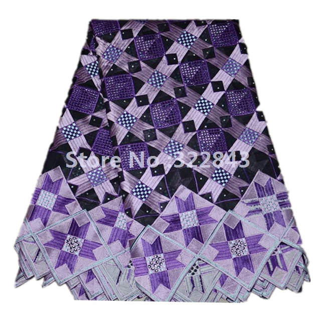 Здесь можно купить  Free shipping swiss lace,african lace fabric,100%cotton,voile lace,heavy big design,wholesale and retail WHITE LILAC   Дом и Сад