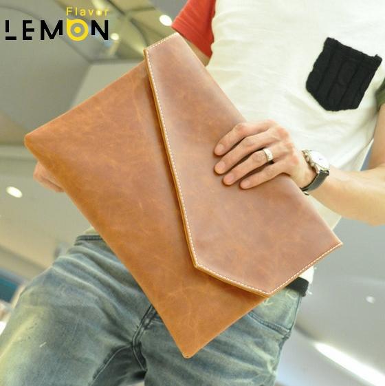 2015 New Brand PU Leather Men Envelope Briefcase Travel Bags Vintage Laptop Men Messenger Bags Fashion Business Men Clutch A1167(China (Mainland))