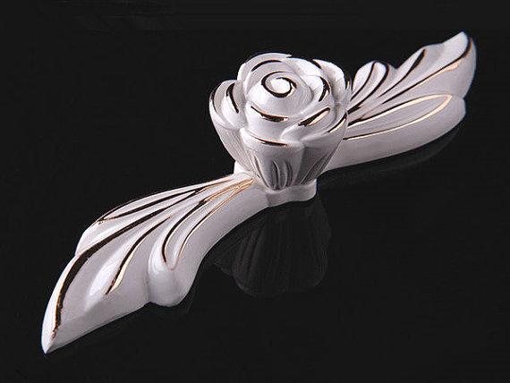 Dresser Pulls Drawer Pulls Handles Knobs Cabinet Handles Door Handle French Cream White Gold Silver Rose Flower Decorative<br><br>Aliexpress