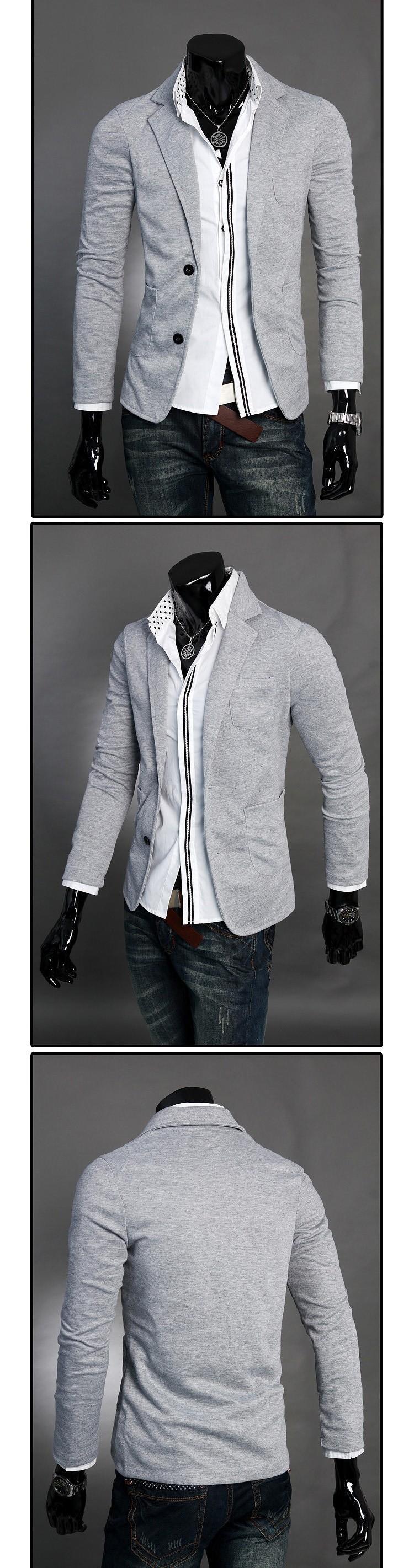 Мужской блейзер slim fit abrigos hombre homme chaqueta desigual new