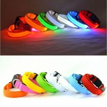 Excellent LED Pet Cat Dog LED Collar Safety Glow Necklace Flashing Lighting Up XS / S / M / L  Free Shipping