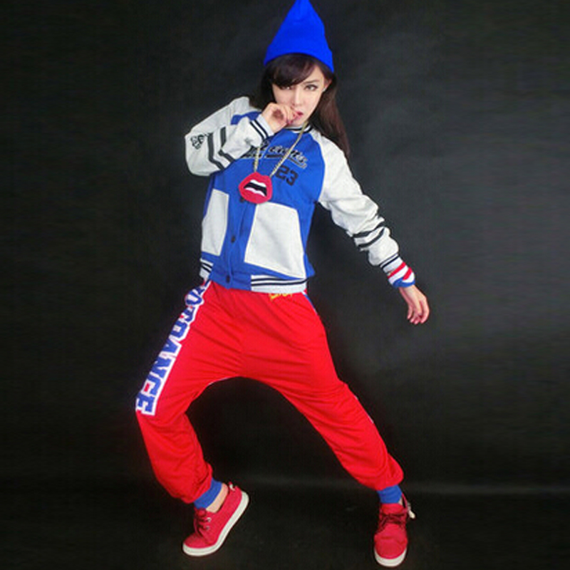 New Jazz Dance Costume Girl Hip Hop Top Girl Fashion Show Hip Hop Dance Coat Clothes And Pants
