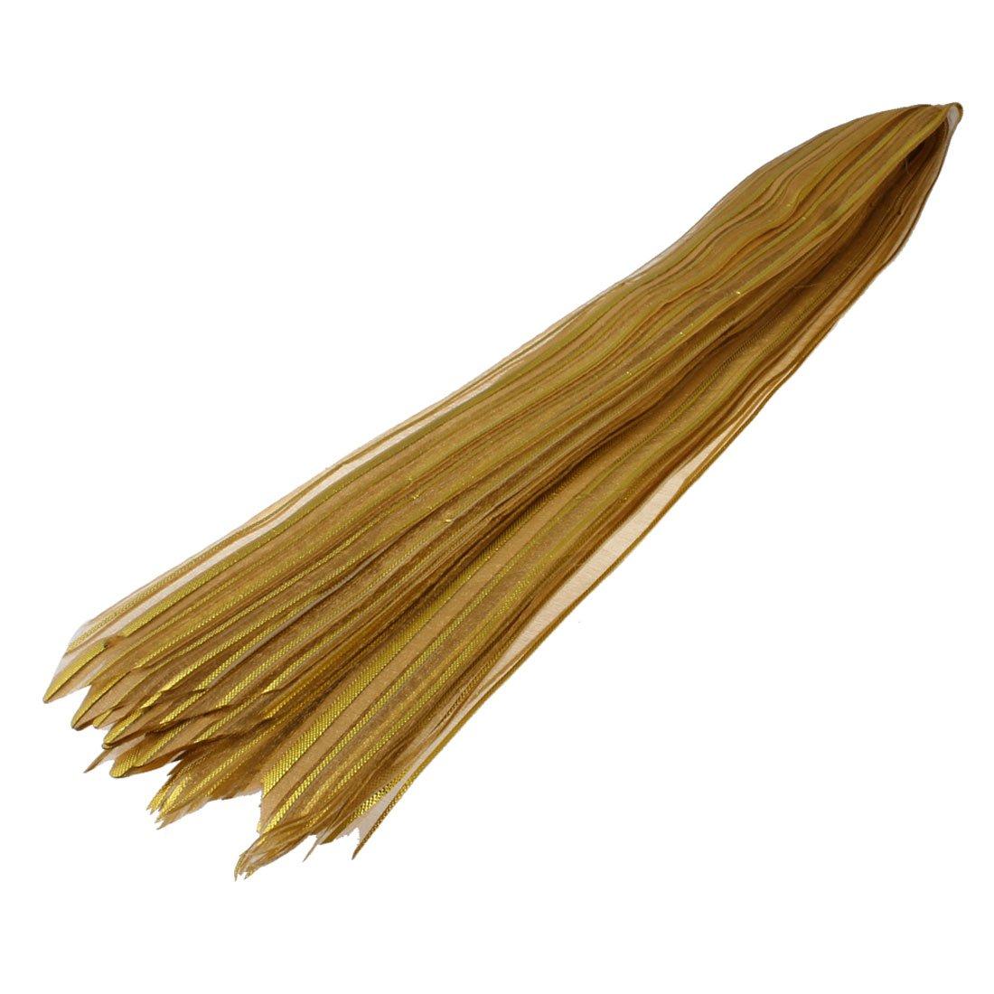 Practical Gift Glittery Pull Bow Ribbon Gold Tone 10pcs(China (Mainland))