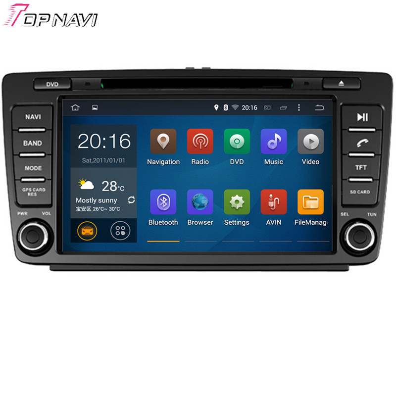 Free Shipping Quad Core Android 4.4 Car DVD Stereo For SKODA OCTAVIA 2005 2006 2007 2008/2013- With Mirror Link 16 GB Flash<br><br>Aliexpress