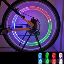 1 Pair Bike Car Motorcycle Wheel Tire Valve Colorful LED Flash Lights Lamps 1Q9L 466K(China (Mainland))