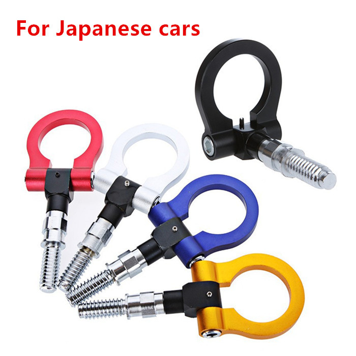 Free shipping Bule Red Black Golden Purple Universal Aluminum Front Rear password JDM racing Tow Hook For any Japanese cars(China (Mainland))