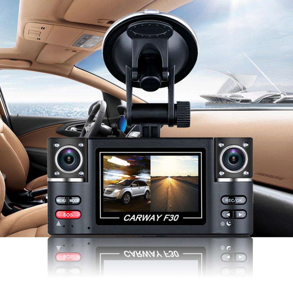 "Car DVR 2.7"" TFT LCD HD 1080P Dual Camera Rotated lens Vehicle Digital Video Recorder Night Vision Rear view Dash Cam(China (Mainland))"