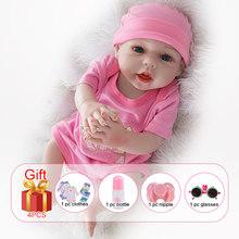 UCanaan 20 Polegada Realista Boneca Reborn Lifelike Handmade Macio silicone renascer baby dolls criança presentes de Natal surpresa brinquedo lol(China)