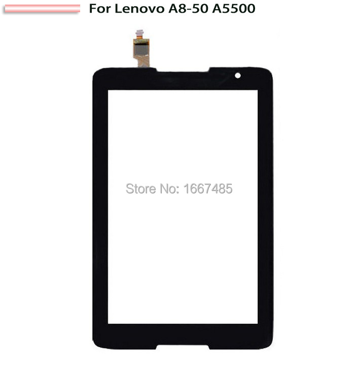 New For Lenovo IdeaTab A8-50 A5500 Touch Screen Digitizer Lens Glass Black(China (Mainland))