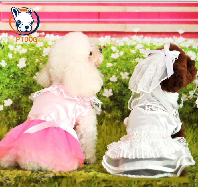 clothing for dogs products for animals ropa para mascotas perros cachorro pet clothes dog clothing vestidos lace wedding dress(China (Mainland))