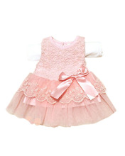 Fashion Child Kids Girls Princess Party Wedding Lace Dress Flower Bow knot Tutu Dress