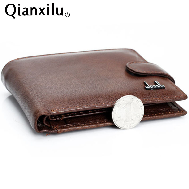 wallet men 100% genuine leather wallets men real leather purse with coin pocket trifold wallet male clutch purse zipper TOP !(China (Mainland))