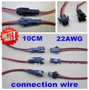 Free shipping 100pairs/lot  ,10cm/pcs ,20cm/pair LED connecting wire, male and female connector Terminals cable for single color<br><br>Aliexpress
