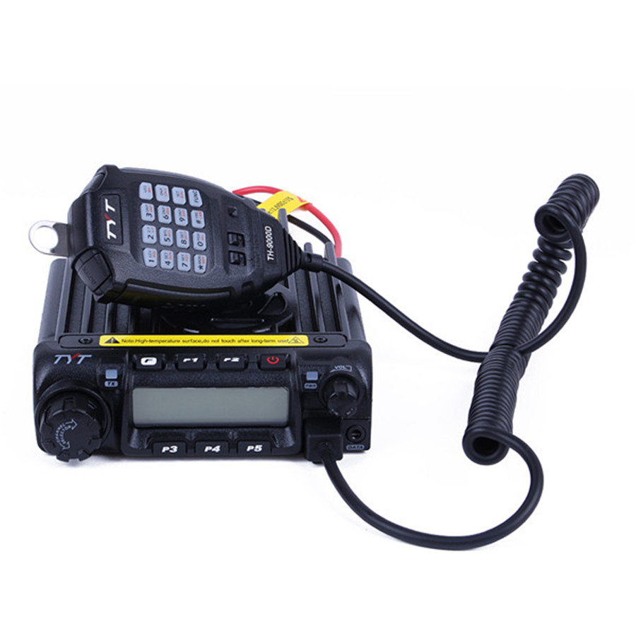 TYT TH-9000D walkie talkie mobile transceiver 60W full frequency VHF channel step 5/6.25/8.33/10/12.5/15/20/25/30/50KHz cb radio(China (Mainland))