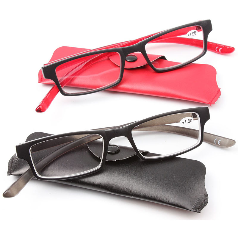 New Style Reading Glasses Black and Red Reader Hang Around on Neck(China (Mainland))