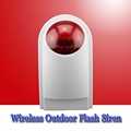 Free shipping outdoor strobe siren for WIFI gsm home alarm system waterproof flash siren wireless defense