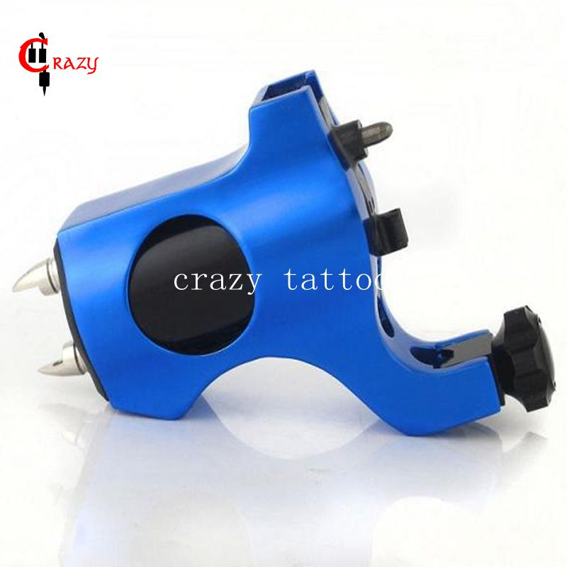 2016 Newest Rotary Tattoo Machine Bishop Style Blue Color Tattoo Machine For Shader Liner Permanent Tattoo Gun Free Shipping(China (Mainland))