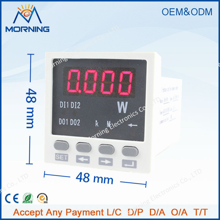 ME-P81 frame size 48*48 mm hot sell factory price single-phase led display ac digital active power meter, for industrial use<br><br>Aliexpress