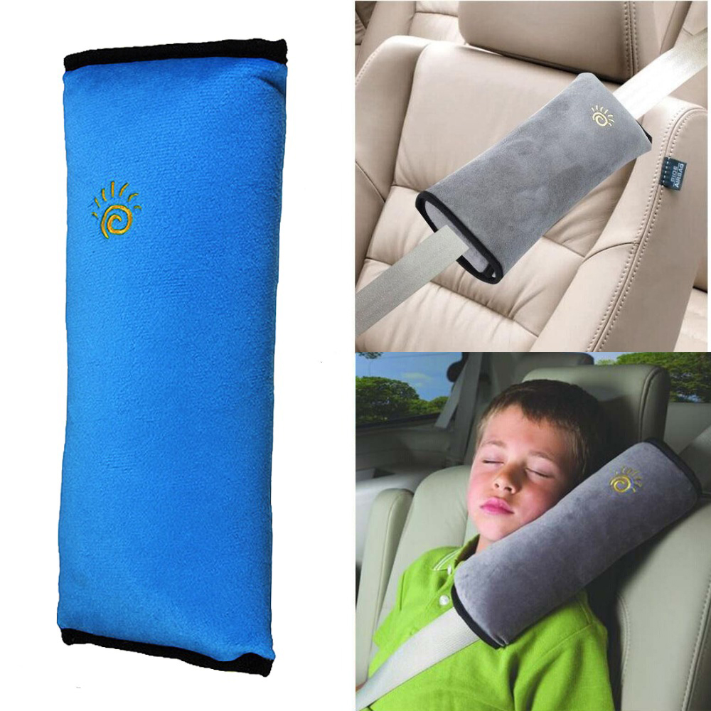 Blue Kid Baby Car Auto Safety Seat Belt Harness Shoulder Pad Cover Cushion Pillow Children Seatbelt Protect Neck Free Shipping(China (Mainland))