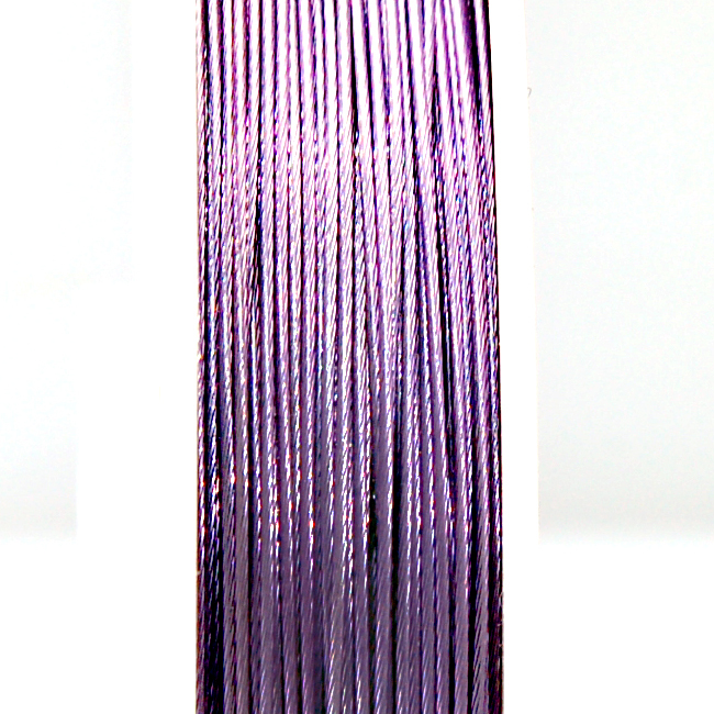 High quality stainless steel wire,0.6mm voilet tigertail beading wire,thread cord,coated with plastic protective film wire(China (Mainland))