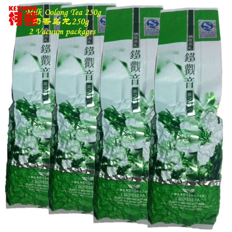 Free Free!! 2 Vacuum packages Premium Fragrant Type Traditional Chinese Milk Oolong Tea TieGuanYin Green Tea Milk Tea 250g(China (Mainland))
