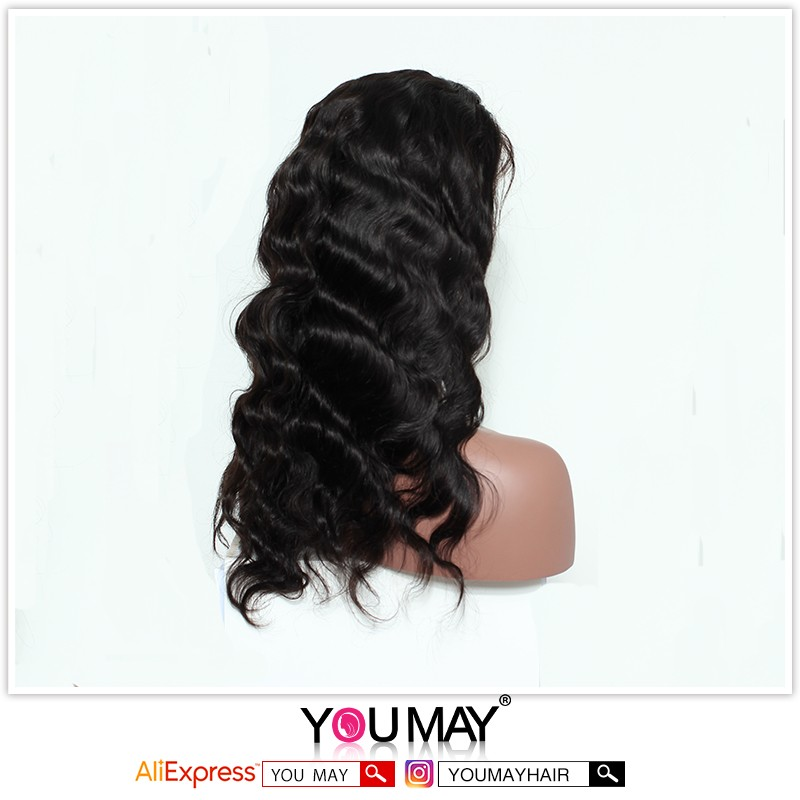 Brazilian Body Wave Full Lace Human Hair Wigs For Black Women 7A Brazilian 130% Density Lace Front Human Hair Wig With Baby Hair
