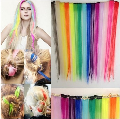 2015 New Rushed Valentine's Day Gifts/minimum Order 1pcs For One Shipment Straight Long Women Hair Extension/color Synthetic(China (Mainland))