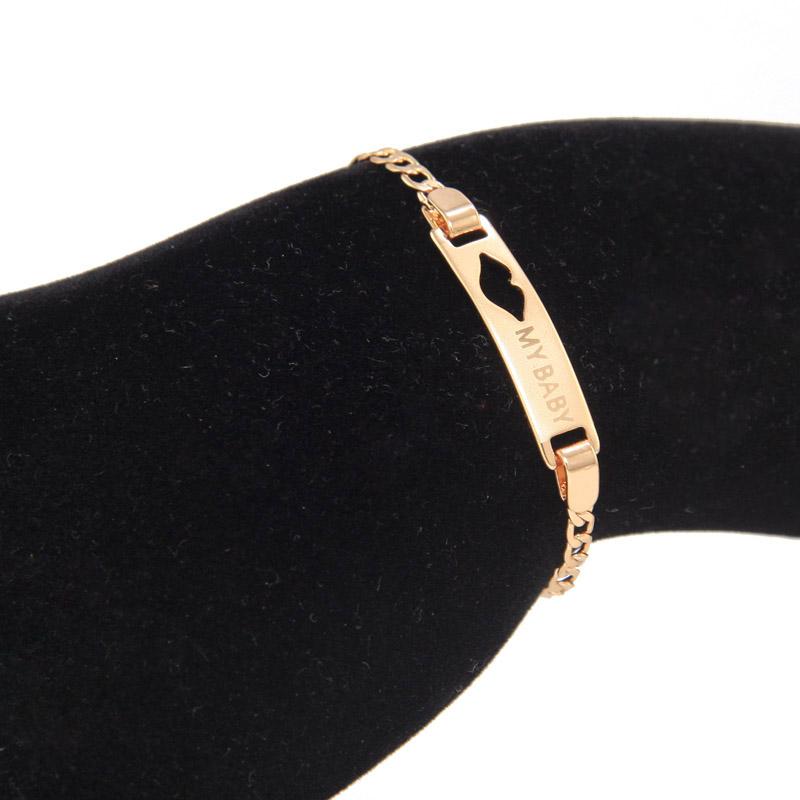 BR40_08a baby bracelet gold kids jewelry bracelete ouro pulseira bebe bijoux ninas armband