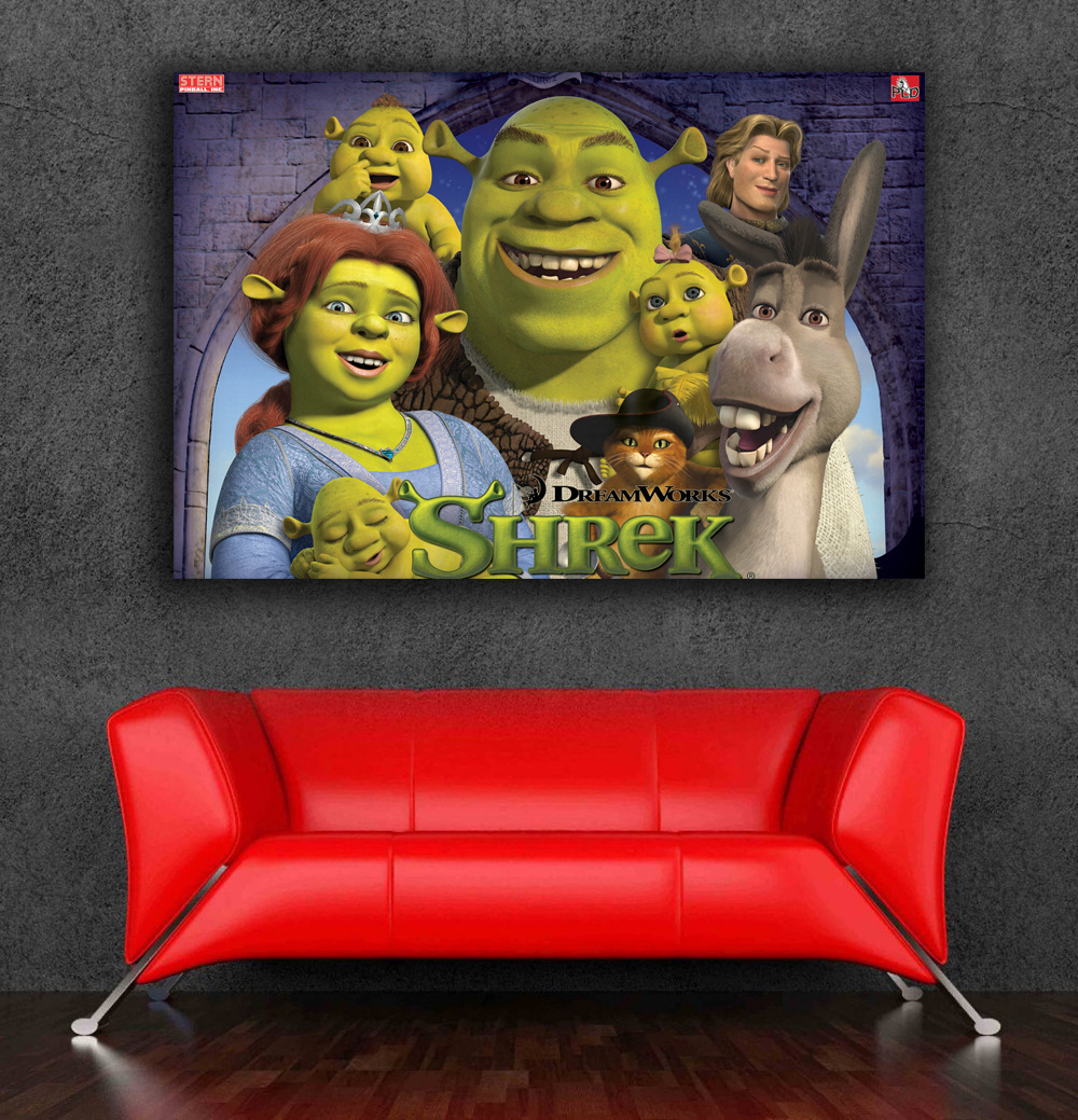 shrek poster 3d wall stickers wall decor size 85x60cm