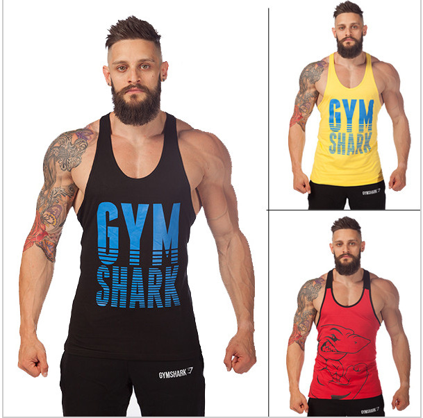 Golds Gym Stringer Tank Top Men Bodybuilding Clothing Fitness Mens Sleeveless Shirt Sports Vests Cotton Singlets Tops fy001 - The best & cheapest store