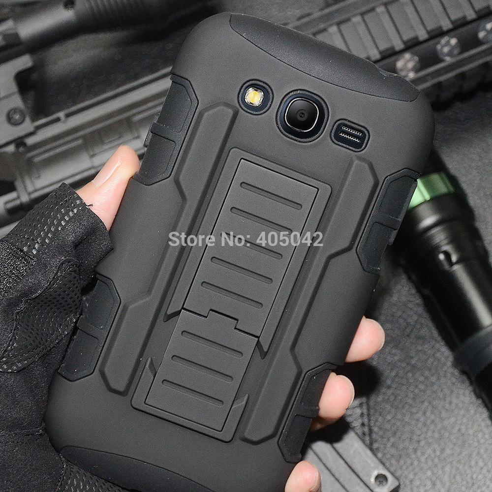 Protective Armor Impact Hard Case Cover+Holster+FILM+STYLUS for Samsung Galaxy Grand Duos i9080 i9082(China (Mainland))