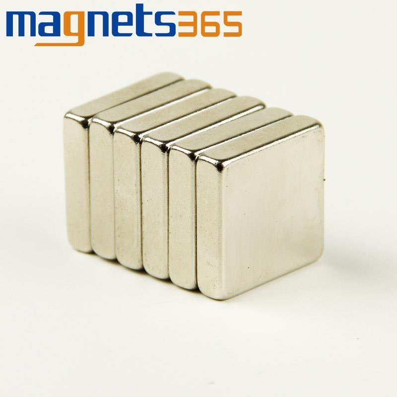 5pcs N35 Super Strong Cuboid Block Magnets 4/5 x 4/5 x 1/5 Rare Earth Neodymium<br><br>Aliexpress