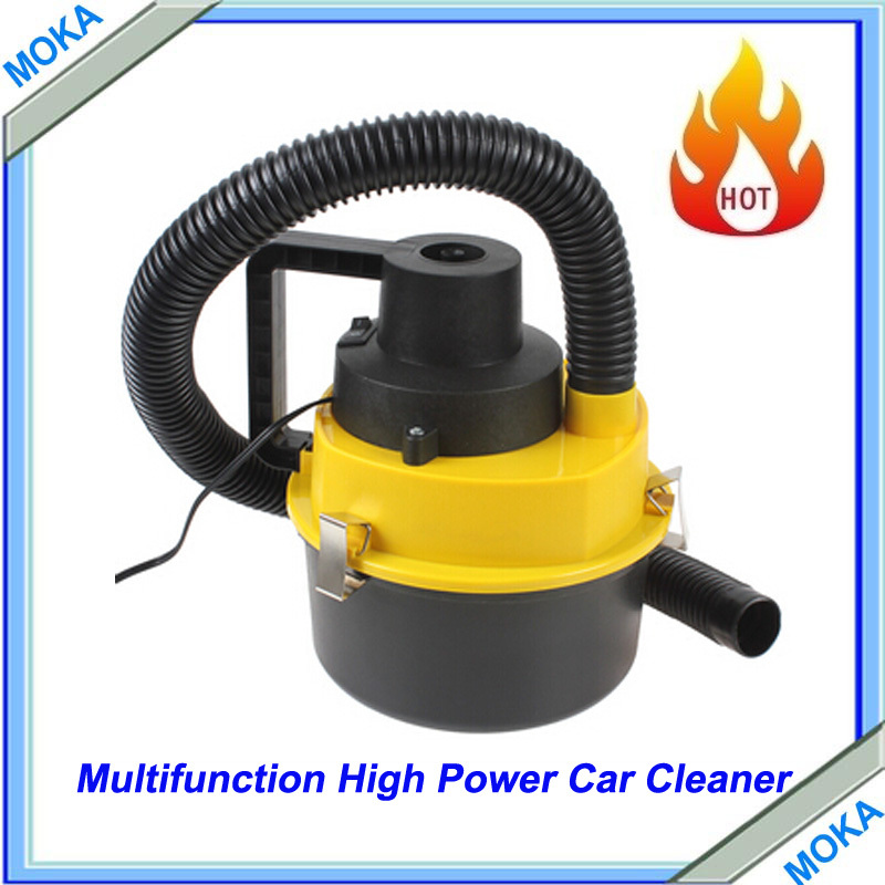 Free Shipping Wet & Dry 120w 12V Portable Car Dust Vacuum Cleaner Handheld Mini Car Vacuum Cleaner with Brush / Nozzle Head(China (Mainland))