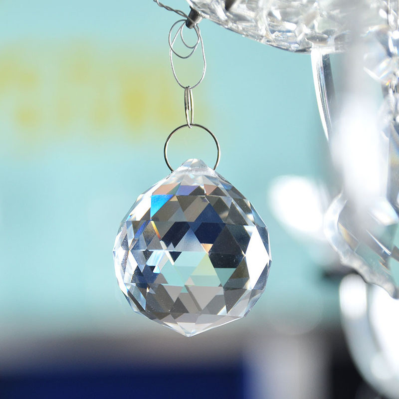 Clear 40mm Faceted Glass Crystal Ball Prism Chandelier Crystal Parts Hanging Pendant Lighting Ball Suncatcher Wedding Home Decor (5)