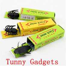 2015 Hot April Fool's Day spoof person Funny Tricky toys toy surprised cockroaches gum 2pcs Free Shipping(China (Mainland))