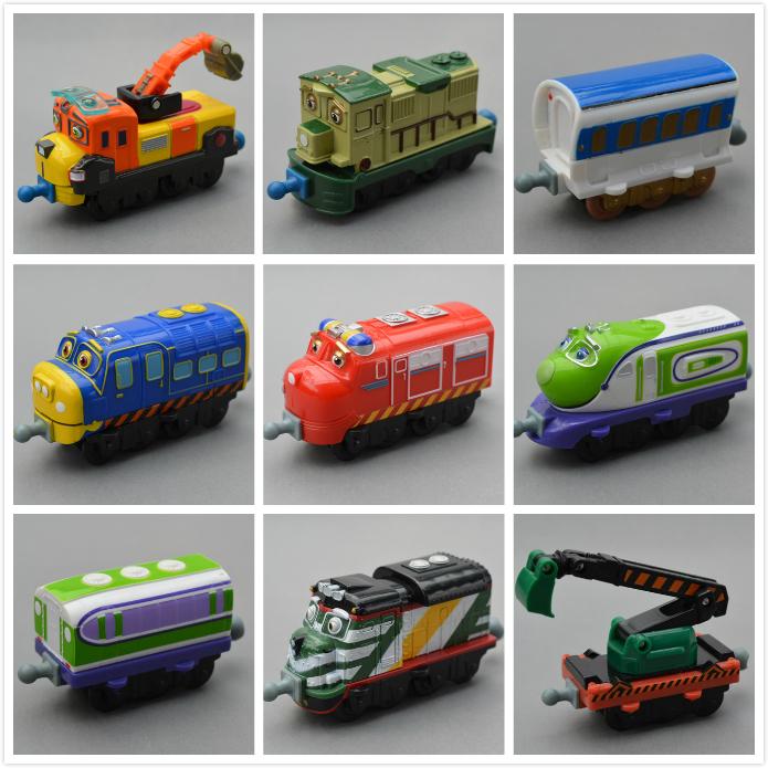 Small boy,girl kids' scale diecast model toy;child mini metal vehicle locomotive brinquedos;special Tomy chuggington trains set(China (Mainland))