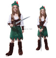 free shipping Girls Peter Princess Halloween Costumes Kids Little Zorro Cosplay Performance Costumes children s clothes