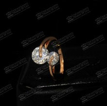 18K Rose gold Plating FREE SHIPPING GR NERH TOP quality Zirconia with micro CZ Setting Engagement