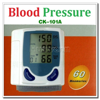 High quality Digital Wrist Blood Pressure Monitor & Heart Beat Meter with LCD display Dropshipping